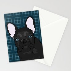Black Frenchie Stationery Cards
