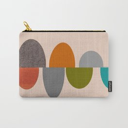 Mid-Century Modern Ovals Abstract Carry-All Pouch