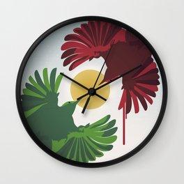 Wrens Wall Clock