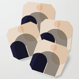 Abstraction_NEW_SUN_SHAPE_MOUNTAINS_LINE_POP_ART_M0202A Coaster