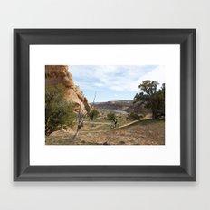 Horsethief Bench and Colorado River Framed Art Print