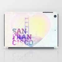 san francisco iPad Cases featuring San Francisco by John W. Hanawalt