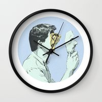 mask Wall Clocks featuring Mask by Señor Salme