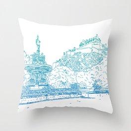Princes Street Gardens Throw Pillow