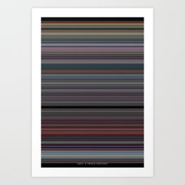 2001 A Space Odyssey - Use of Color Art Print