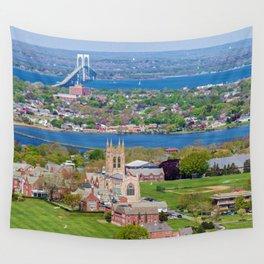 St. George's and Newport Bridge - Aquidneck Island, Rhode Island Wall Tapestry