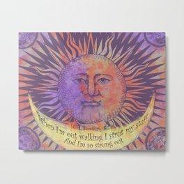 Blister in the Sun Song Lyric Art Metal Print