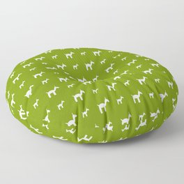 Llama 1- Green Floor Pillow