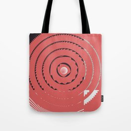 Red abstract geometrical Tote Bag
