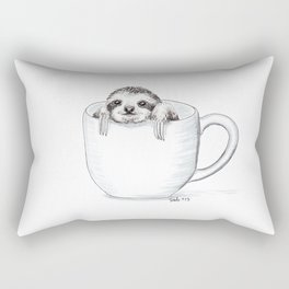 Sloth in a Cup Rectangular Pillow
