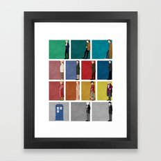 Doctor Who? Framed Art Print