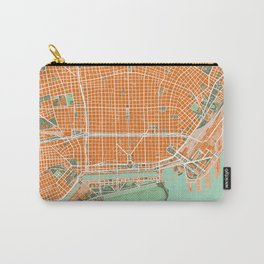 Buenos Aires city map orange Carry-All Pouch