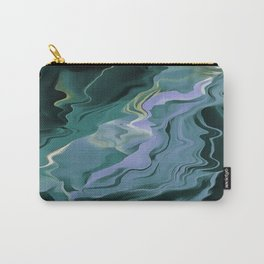 Teal Turbulence Carry-All Pouch