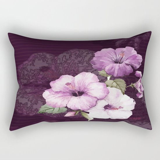 The shadow of flowers Rectangular Pillow