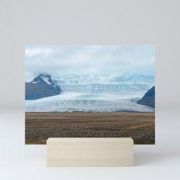 Glacier in Vatnajokull National Park - Iceland Mini Art Print