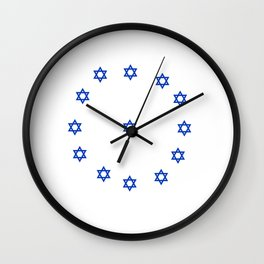 Star of David. A Clock.-Magen David,israel,judaism,bible, מָגֵן דָּוִד, jerusalem Wall Clock