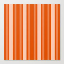 Persimmon Victorian Lady Stripe Canvas Print