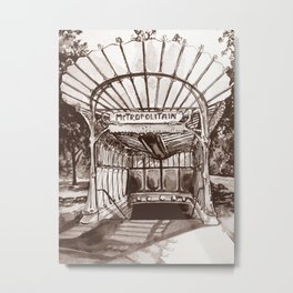 Métro Porte Dauphine - Hector Guimard Metal Print