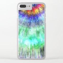 Textured Tie Dye Starburst Clear iPhone Case