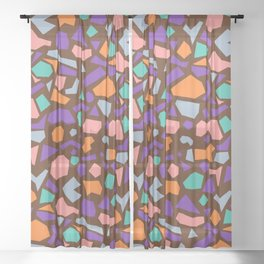 terrazzo 005 Sheer Curtain