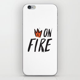 On Fire! iPhone Skin