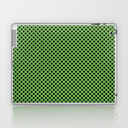 Green Flash and Black Polka Dots Laptop & iPad Skin