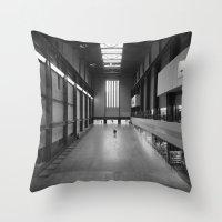 kris tate Throw Pillows featuring Tate Modern by Evan Morris Cohen