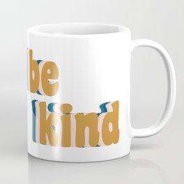 Be Kind Fun Retro Lettering Coffee Mug