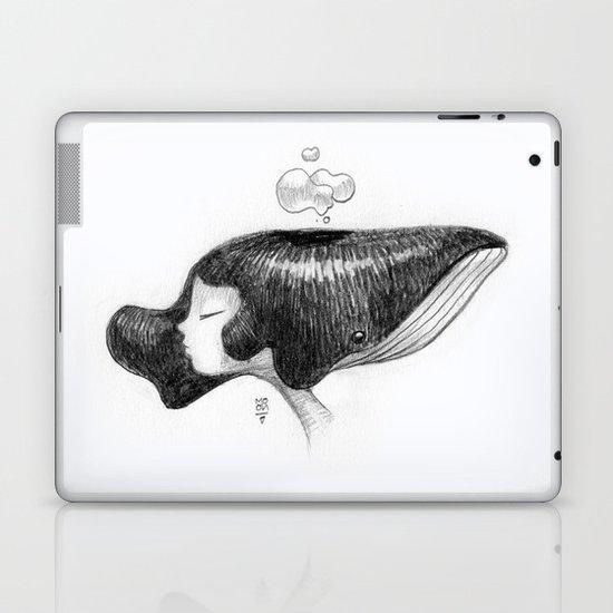 whale women Laptop & iPad Skin