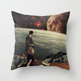 The Roses Came Throw Pillow