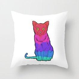 Graffiti Cat Throw Pillow