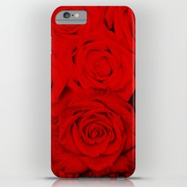 Some people grumble- Floral Red Rose Roses Flowers iPhone Case