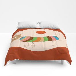 Sausage Dog In Ketchup Sunset Comforters