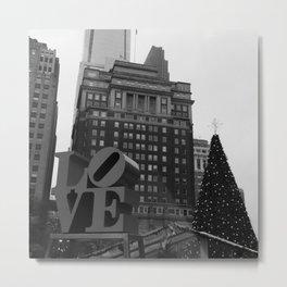 Love Park Philadelphia Christmas Metal Print