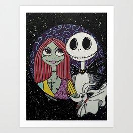 The Pumpkin King & Sally Art Print