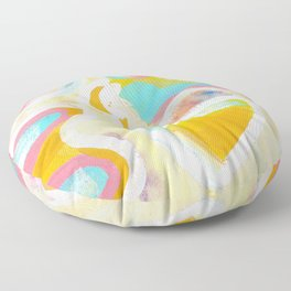 Abstract Acrylic Study  Floor Pillow