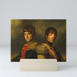 Noel Gallagher & Liam Gallagher - replaceface Mini Art Print