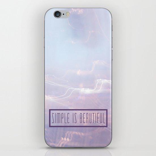 Simple Is Beautiful iPhone & iPod Skin