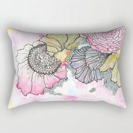 Wild Flora Watercolor Rectangular Pillow
