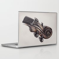 violin Laptop & iPad Skins featuring violin by Buffy Ino Kua
