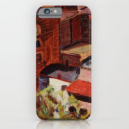 Classical African American Landscape 'Over the Harlem Rooftops' by Malvin Gray Johnson iPhone Case