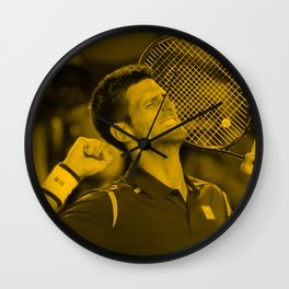Novak Djokovic Wall Clock