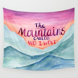 The Mountains Called Wall Tapestry