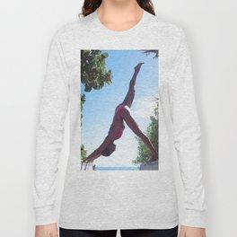 WOMAN - YOGA - POSE - BATHING - SUITE Long Sleeve T-shirt