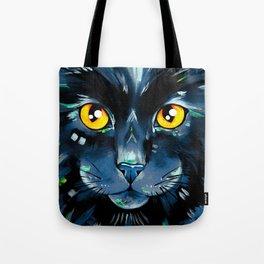 Cat's in Color 2 - Black version Tote Bag