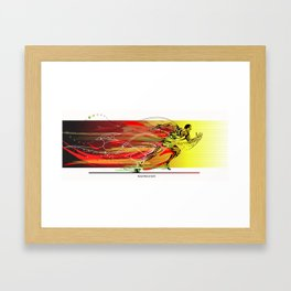 The fastest man on eath Framed Art Print