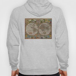 Vintage Map of The World (1662) Hoody
