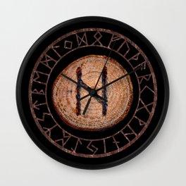 Hagalaz - Elder Futhark rune Wall Clock