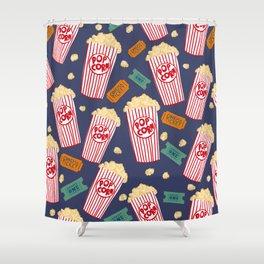 Popcorn and movie night Shower Curtain