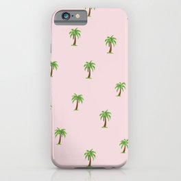 Palm Tree Print iPhone Case